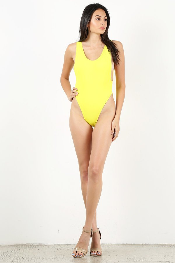 Neon Lemon One Piece Bathing suit