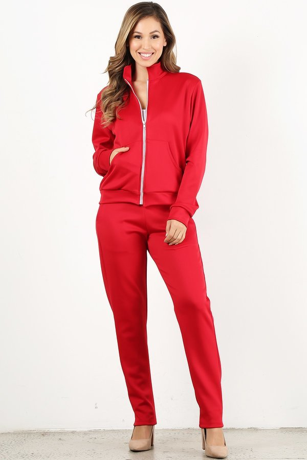 Red Tracksuit Set