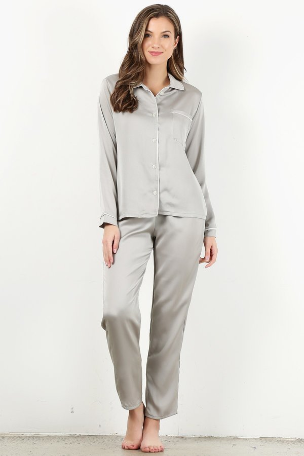 Silver 4pc Pajama Set