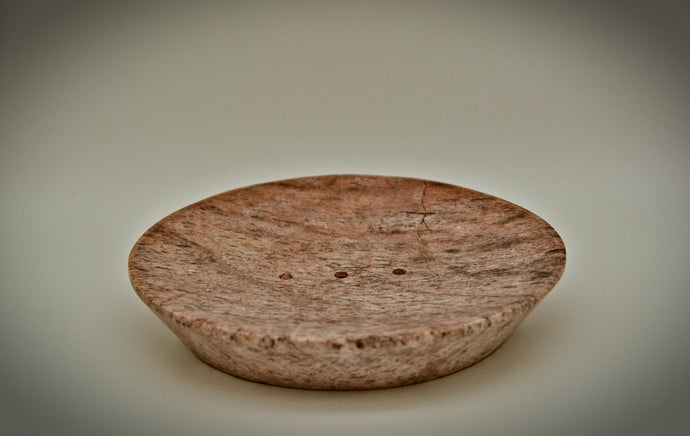Hand Carved Stone Soap Dish