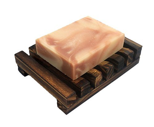 Natural wood soap dish holder