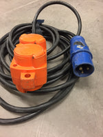 Adapter 16A 1~/ schuko 10m
