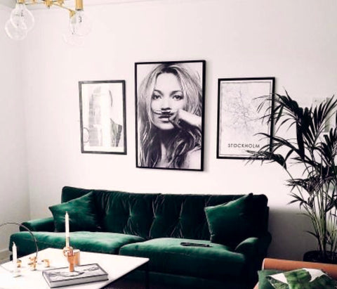 Modern Monochrome wall art Kate moss statement wall best price cheapest art U.K. Seller www.pebbleandleaf.co.uk blog