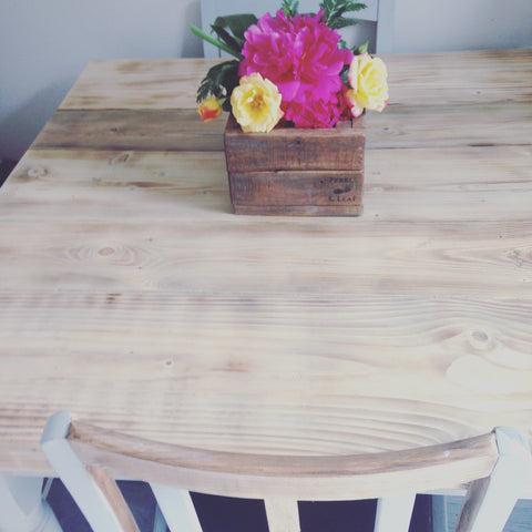 scaffold Board table. Made to order rustic pallet wood Planters refurbish bar chairs best at www.pebbleandleaf.co.uk
