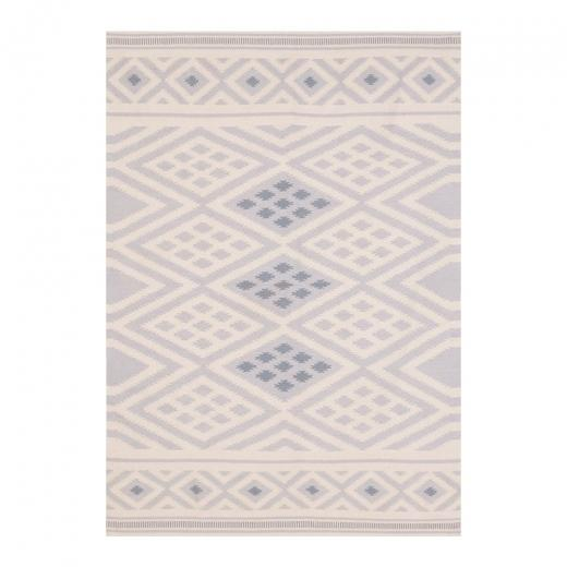 "120 x 170 cm / Grey Natural 100% Cotton ""Coord"" Aztec Moroccan Geometric Rug - Pebble & Leaf HomeRugs"