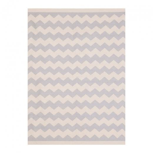 120 x 170 cm / Grey Natural Zigzag 100% Cotton Coord Zigzag Geometric Rug - Pebble & Leaf HomeRugs