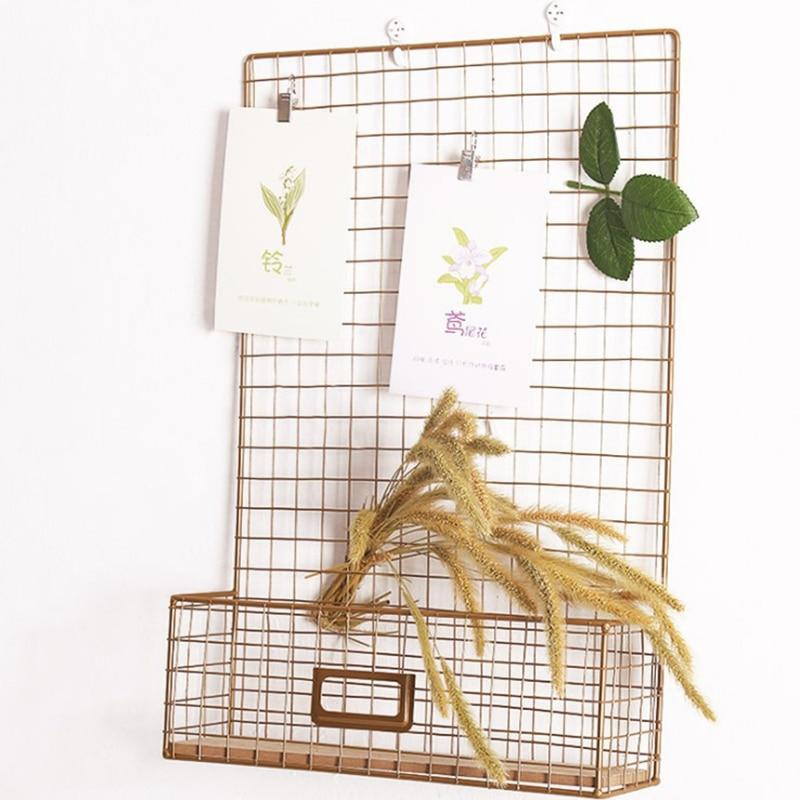 Free Offer! Nordic Style Gold Grid Message Photo Display Letter Rack - Pebble & Leaf Home