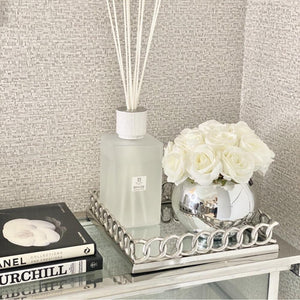 40cm Chain Link Chrome and Mirror Tray