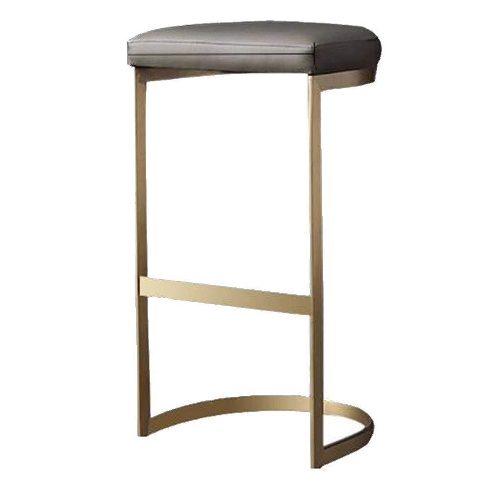 Grey Luxe Revival Luxe Curve Cantilever Gold Brass C Leg Bar Stool Chairs 55 cm 65 cm 75 cm Under Counter