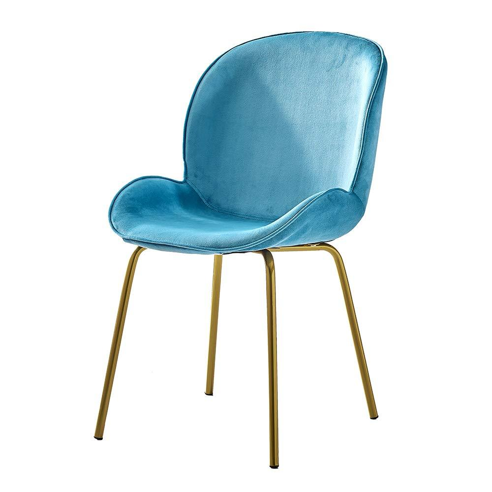 Light Aqua Pale Blue Luxe Revival Gold Metal Legs Living Room Chairs - Pebble & Leaf HomeFurniture