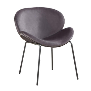 Laid Back Grey Luxe Velvet Butterfly Dining Armchair Luxury Kitchen Chair free uk delivery best price www.pebbleleaf.co.uk