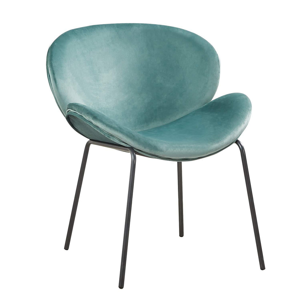 Cactus Green Cactus Light Green Luxe Velvet Butterfly Dining Armchair Luxury Kitchen Chair - Pebble & Leaf HomeFurniture