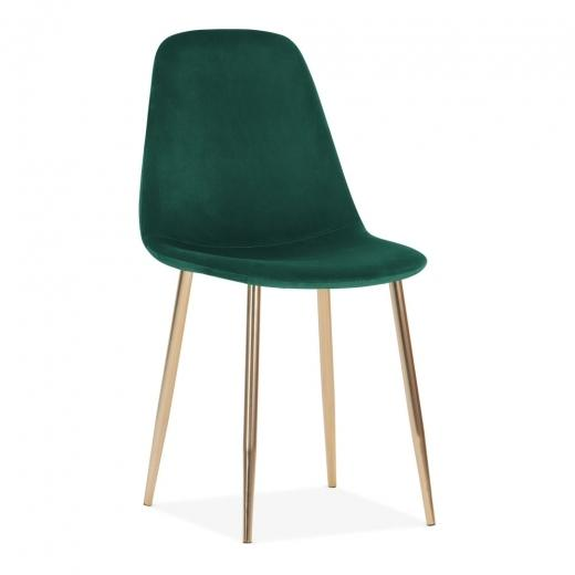 Velvet Alfie Scandi Style Dining / Desk Chair - Pebble & Leaf LtdFurniture