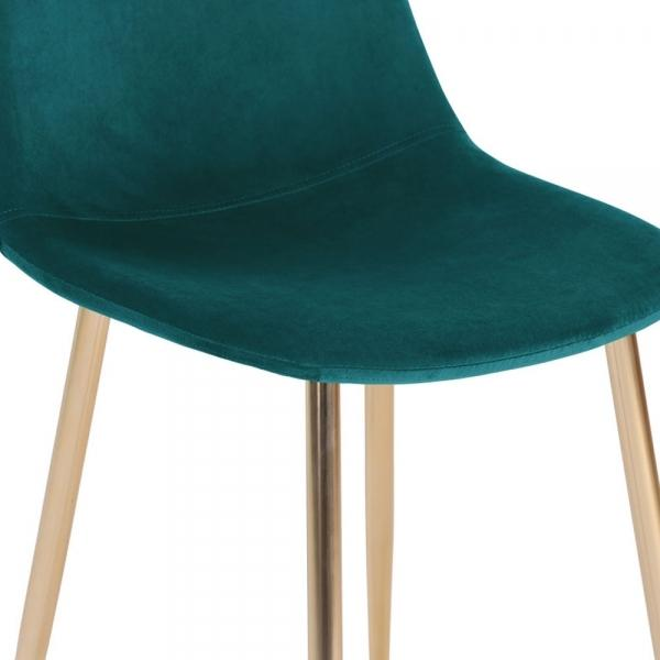 Teal Luxe Diamond Leather Look Bar Stool 75 cm Copper - Brass - Black Leg - Pebble & Leaf LtdFurniture