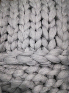 "The Pastel Collection Chunky Knit Blanket Vegan ""Wool"" Blend OR 100% Merino Wool - Pebble & Leaf Ltd"