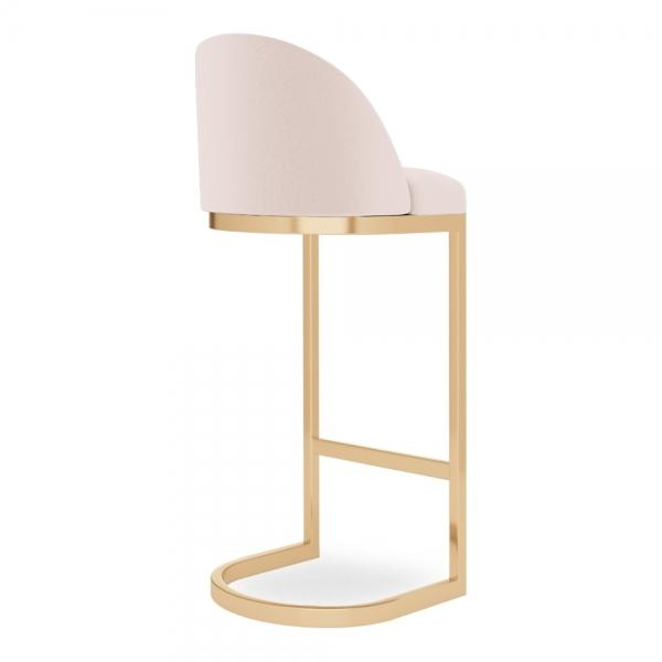 commercial use bar stool, free velvet protection offer, free UK delivery, pale blush light pink, gold brass polished leg, 2020 best bar stool chair luxury minimalist kitchen counter top height 65cm 75cm