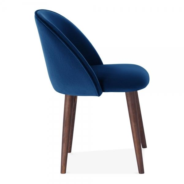Shades of Blue Teal Purple Luxe Diamond Velvet Dining Chair Copper Gold Brass Black Leg - Pebble & Leaf HomeFurniture