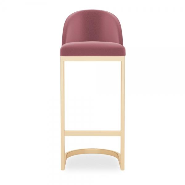 Shades of Pink Luxe Curve Cantilever Velvet High Back Bar Stool 65 / 75 cm