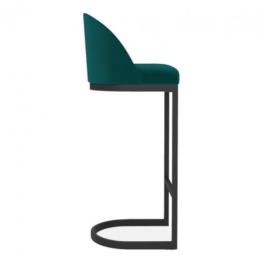 commercial use bar stool, free velvet protection offer, free UK delivery, teal green blue, black leg, 2020 best bar stool chair luxury minimalist kitchen counter top height 65cm 75cm