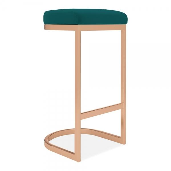 commercial use bar stool, free velvet protection offer, free UK delivery, teal green blue, copper leg, 2020 best bar stool chair luxury minimalist kitchen under counter height 65cm 75cm