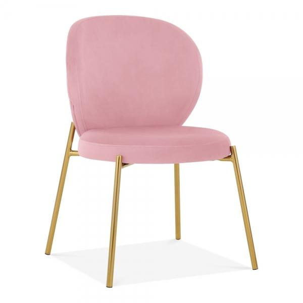 finest selection c0792 d3b63 Luxe Mantis Velvet Pink Gold Dining - Dressing Table Chair