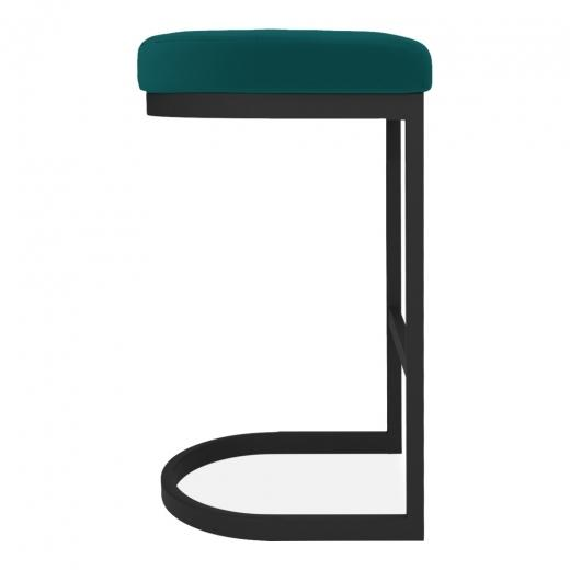 commercial use bar stool, free velvet protection offer, free UK delivery, teal green blue, black leg, 2020 best bar stool chair luxury minimalist kitchen under counter height 65cm 75cm