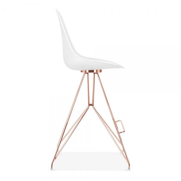 Mode Alfie Dining Desk Chair White 43cm Gold Eiffel Leg - Pebble & Leaf HomeFurniture