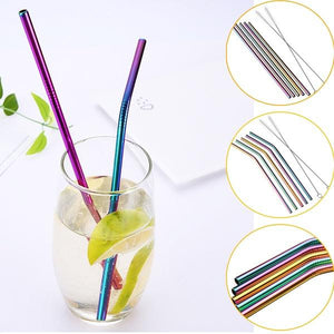 Multi Rose Gold Copper Black Silver Eco Stainless Reusable Straws - Pebble & Leaf Home