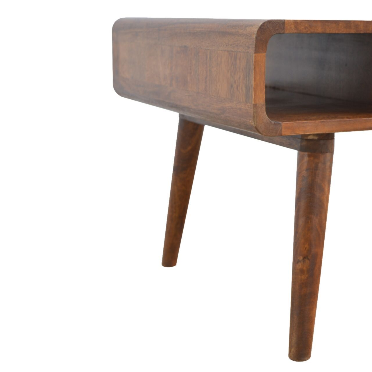 Nordic Curve Solid Sustainable Mango Wood Eco Friendly