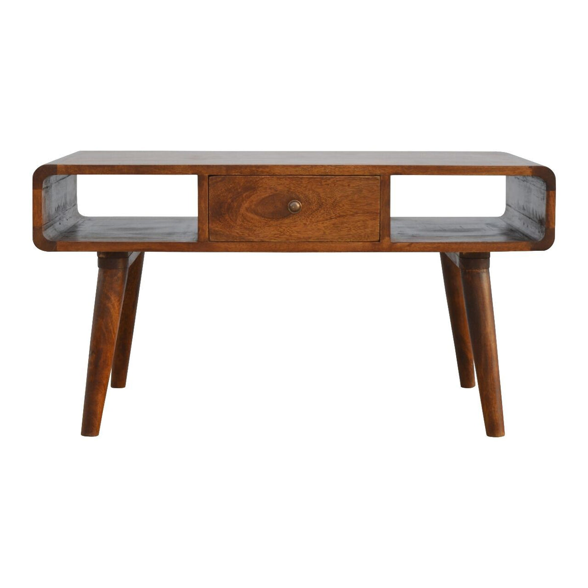 Nordic Curve Solid Sustainable Mango Wood Eco Friendly Coffee Table