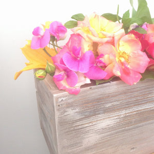 Rustic Wood Planter /Wedding Flowers / Storage Box - Pebble & Leaf Ltd
