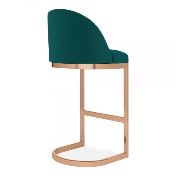commercial use bar stool, free velvet protection offer, free UK delivery, teal green blue, copper leg, 2020 best bar stool chair luxury minimalist kitchen counter top height 65cm 75cm