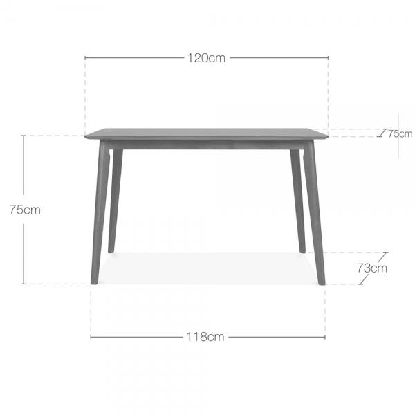 The Danish Walnut Style Dining Table 120cm - Pebble & Leaf Ltd