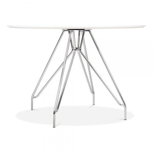 Chrome Mode Icon C1 White Copper . Gold . Chrome . Black Metal Leg . Dark Wood . Oak Dining Table 110cm - Pebble & Leaf HomeFurniture