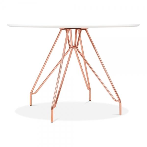 Copper Mode Icon C1 White Copper . Gold . Chrome . Black Metal Leg . Dark Wood . Oak Dining Table 110cm - Pebble & Leaf HomeFurniture