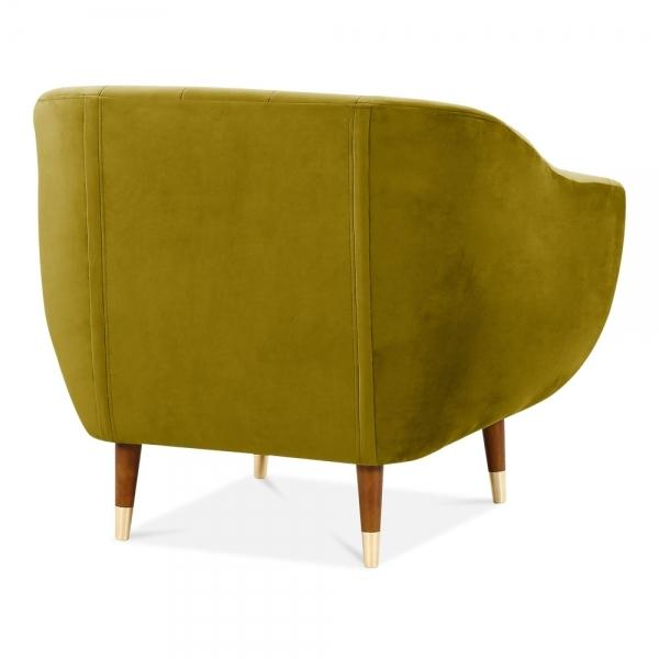 Luxe Modern Art Deco Shell Deep Sea Green Teal Velvet Armchair - Pebble & Leaf HomeFurniture