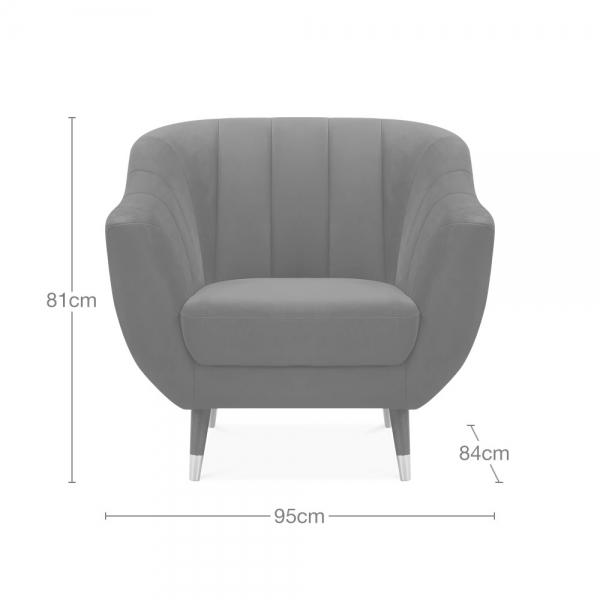 Luxe Armchair Delivery to Non Mainland UK Mainland EU Only £9.95 - Pebble & Leaf Ltd