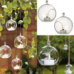 Hanging Glass Terrarium Candle Holder - Pebble & Leaf HomeVases