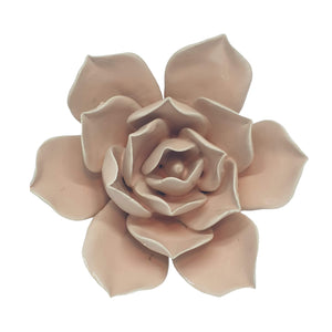 Blush Pink Coral Ceramic Flower Paper Weight Wall Art Hanging Decoration