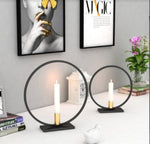 Nordic Round Circle Candle Holder - Pebble & Leaf HomeCandles