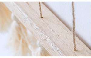 Hanging Hemp Tassel Wood Photo Display FREE OFFER!!!! - Pebble & Leaf HomeStorage