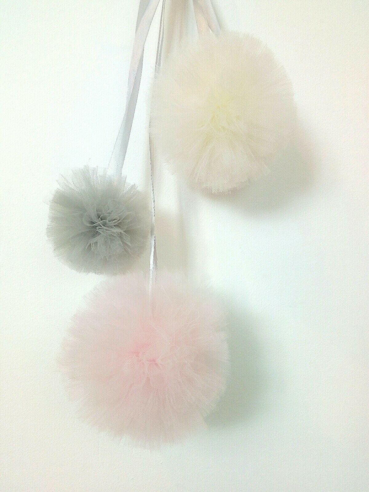 Soft Pink Large Tulle Pom Pom Garland FREE OFFER!!!! - Pebble & Leaf HomeWall Art