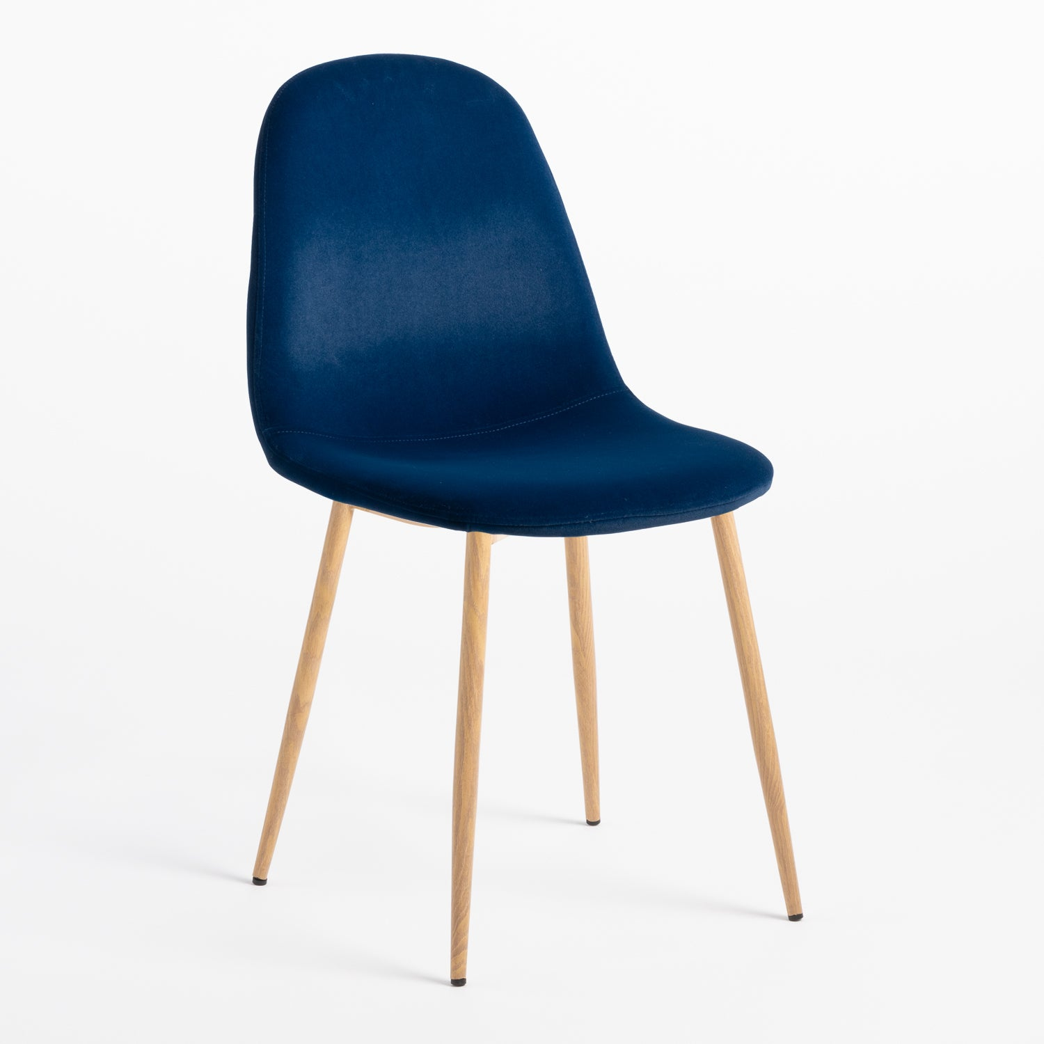 Shades of Blue Alfie Curve Scandi Dining Chair Rose Gold.Black.Chrome.Metal.Wood Leg