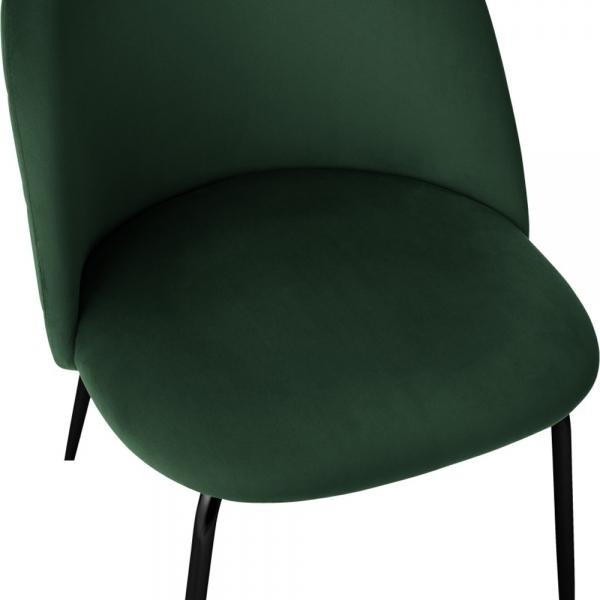 Emerald Green Luxe Diamond Velvet Bar Stool 65cm - 75cm Gold Brass - Copper - Black Leg - Pebble & Leaf LtdFurniture