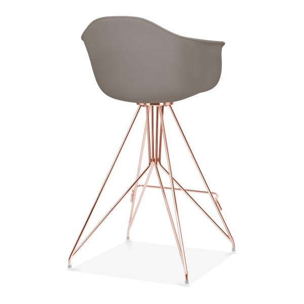 Mode Armchair Bar Stool Grey With Copper Eiffel Style Leg - Pebble & Leaf HomeFurniture