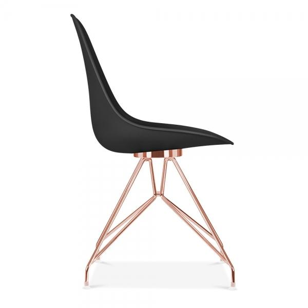 Mode Alfie Dining Desk Chair Black 43cm Copper Eiffel Leg - Pebble & Leaf HomeFurniture