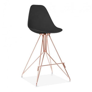 Copper / Bar Stool Mode Alfie Dining Desk Chair Black 43cm Copper Eiffel Leg - Pebble & Leaf HomeFurniture