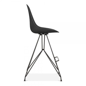 Black / Bar Stool Mode Alfie Dining Desk Chair Black 43cm Copper Eiffel Leg - Pebble & Leaf HomeFurniture