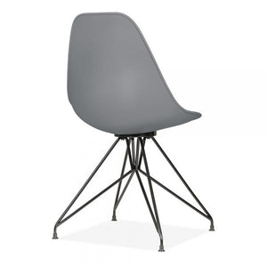 Dark Grey Mode Alfie Dining Desk Chair Copper / Chrome / Gold Black Metal Eiffel Leg