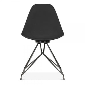 Mode Alfie Dining Desk Chair Black 43cm Black Metal Eiffel Leg - Pebble & Leaf HomeFurniture